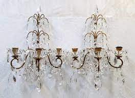 crystal candles crystal wall sconces