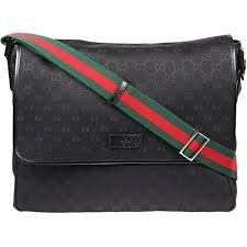 gucci bags for men 2017. gucci black original gg fabric large flap messenger bag ($755) ❤ liked on polyvore bags for men 2017 l