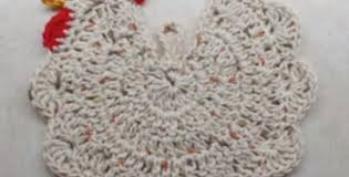 Crochet Chicken Potholder Pattern