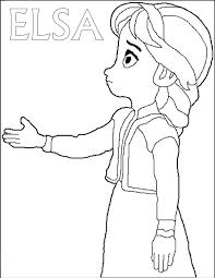 Frozen Elsa Da Stampare E Colorare