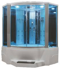 steam shower with whirlpool bathtub