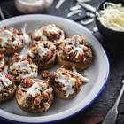 baked stuffed mushrooms with sausage and mozzarella