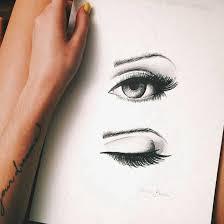 makeup ideas makeup drawing black drawing eye eyebrows eyelashes eyes