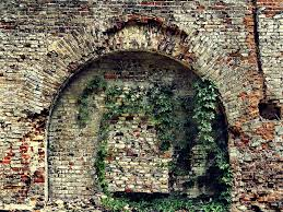 exterior brick wall crumbling. crumbling stone wall of an old house with brick masonry \u2014 photo by plus69 exterior g