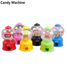 Sweet Vending Machine Amazing Cute Mini Candy Gumball Dispenser Vending Machine Saving Bank Coin
