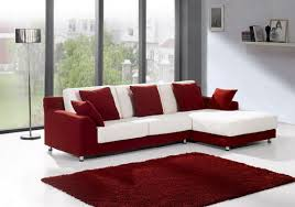 contemporary white living room furniture. Luxury White And Red Contemporary Small Sectional Sofa Living Room Furniture Images
