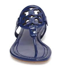 nib tory burch patent leather miller sandal bright indigo navy blue 7 5 198