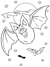 Small Picture Halloween Coloring Pages For Kids Bats Hallowen Coloring pages