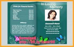 Free Funeral Program Templates Download Mesmerizing Free Obituary Program Template Gallery Funeral Service Samples