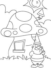 cute mushroom coloring pages 7