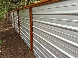 Perfect Sheet Metal Fence Make From Old Roofing To Inspiration