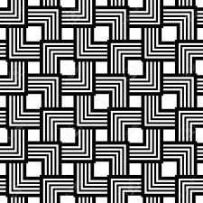 黒と白のシームレスなパターンは単純なベクトル ストライプ幾何学的な背景にはデザインや壁紙編集可