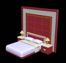 3d Max Furniture Design Bed Wall Design 3d View 3d Max Plan N Design