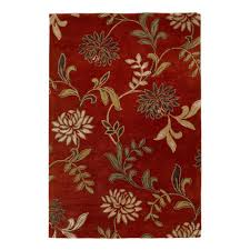 kas rugs perfect flowers red 8 ft x 10 ft area rug