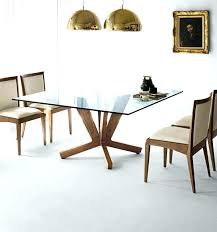 round glass dining table with oak legs wooden and glass dining table square dining table of