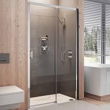 roman lumin8 8mm glass shower enclosure left hand option shown