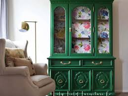 green painted furniture. Springtime Furniture Paint Green China Cabinet | Country Chic {guest Post} Painted