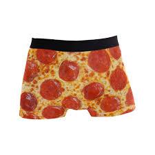Mens Underwear Original Pepperoni Pizza Men Boxer Briefs