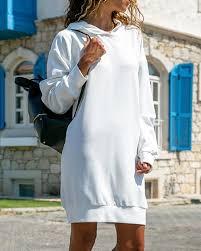 <b>Women</b> Long Sleeve Plain Hooded <b>Sweatshirt</b> Loose <b>Casual</b> ...
