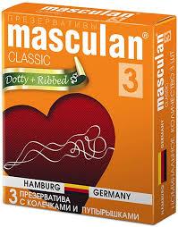 <b>Masculan 3</b> Classic <b>презервативы</b> №<b>3</b> с колечками и пупырышками