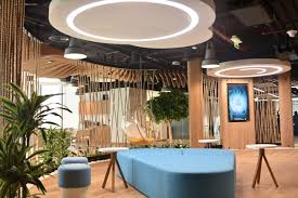 smart office design. The Coffee Bar Area Are Main Design Features. Designed In Revit, Each Wooden Slat Needed To Be Individually Created And Produced Follow Form. Smart Office