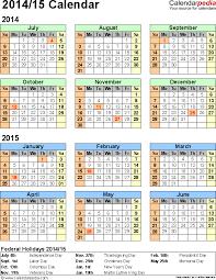 School Calendar Template 2015 2020 Free Printable School Calendar 201415 Free Printable School