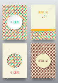 Banner Patterns Amazing Set Of Brochures In Vintage Style Retro Patterns For Placards