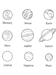 Solar System Coloring Sheet Drfaullcom