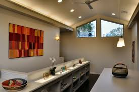 ceiling lights for home office. Sloped Ceiling Lighting Home Office Contemporary With Dark Floor Fan Lights For A
