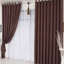 brown living room curtains. Modern Chenille Living Room Chocolate Brown Curtains R