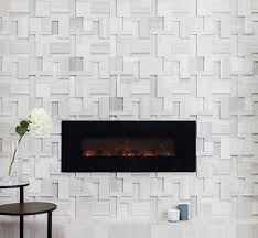 full wall fireplace tile