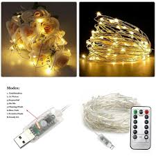 Usb Fairy Lights Details About 50 100 Led Copper Wire Fairy Light Usb With Remote Waterproof Lamp String Lights