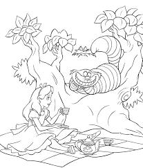 Alice In Wonderland Kleurplaten Disneykleurplatencom
