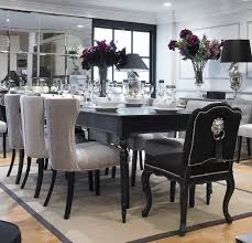 dining table black set and white