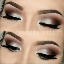 silver brown smokey eye gonna try this with silver shimmer chestnut brown and charcoal
