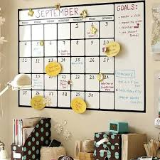 artistic dry erase wall calendar decal