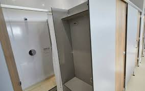 motorhome bunnings door quadrant enclosures wickes large caravan for complete trays lights cubicles frameless bathrooms small