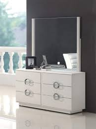 contemporary black or white dresser with stylish chrome handles black or white furniture