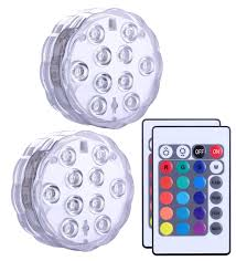 Radio Controlled Led Lights Qoolife Submersible Led Lights Remote Controlled Amazon In