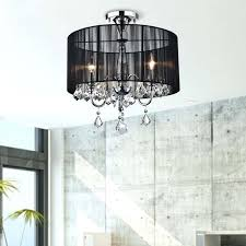 crystal semi flush mount chandelier black and chrome semi flush mount crystal chandelier jessica crystal basket