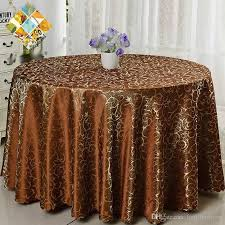 luxurious polyester round table cloth rectangular tablecloth hotel party wedding tablecloth machine washable fabric cloth table dining table cover outdoor
