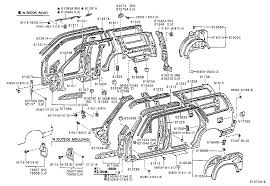 TOYOTA 4RUNNERVZN185L-GKPSKA - BODY - SIDE MEMBER   Japan Parts EU