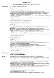 Sample Education Resume Special Education Resume Samples Velvet Jobs 92