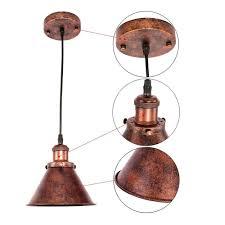 Oyi Antik Pendelleuchte Vintage Industrie Hängelampe Metall
