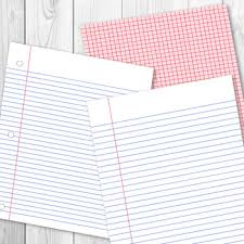 School Digital Papers Preschool Writing Paper Math Graph Paper Lined Papers