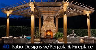 40 best patio designs with pergola and
