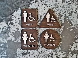 Handicap Bathroom Signs Extraordinary California Title 488 Restroom Signs ADA Compliant Bathroom Set Of 48