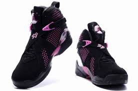 jordan shoes for girls black and pink. women\u0027s air jordan 8 embroidery - black / pink white,jordan shoes for girls and n