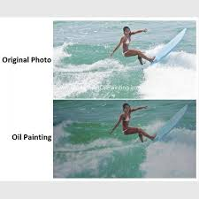 realistic custom oil painting portraits surf lady sports oil paintings from picture images