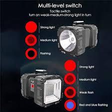 Outdor <b>LED</b> Flashlight Waterproof Double Head CREE 100000LM ...